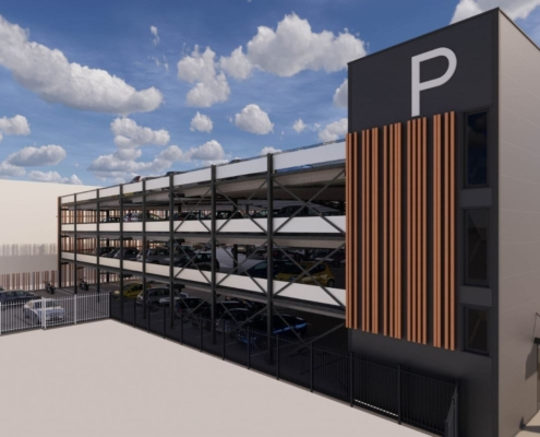 3D parkeergarage